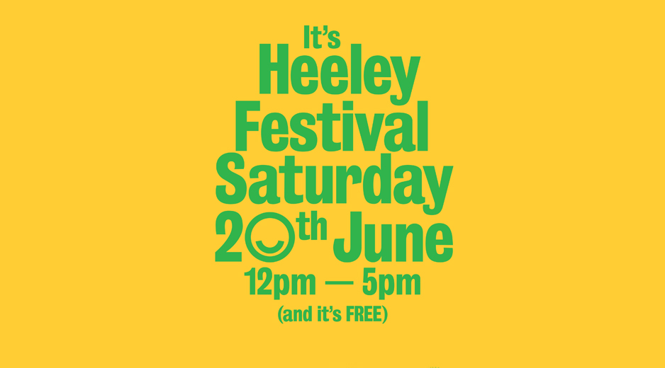 Heeley Festival Poster Yellow